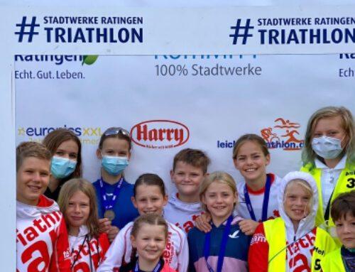 Nachwuchs zeigt seine Stärken beim Stadtwerke Ratingen Triathlon